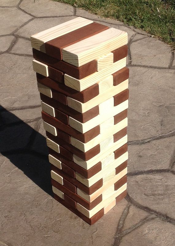 Jumbo Wood Blocks Game Wooden Blocks Corporate Event Game Giant Gorgeous Lawn Game With Wooden Blocks
