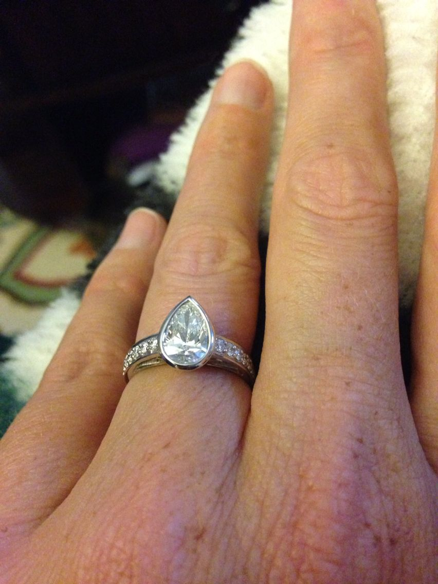 The most perfect pear pearengagementringsdiamond our mackinac