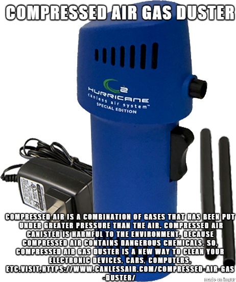 Compressed Air Gas Duster Canned Air Alternative