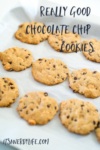 Really Good Chocolate Chip Cookies | Paleo + Gluten Free Cookies | itsanerdylife.com