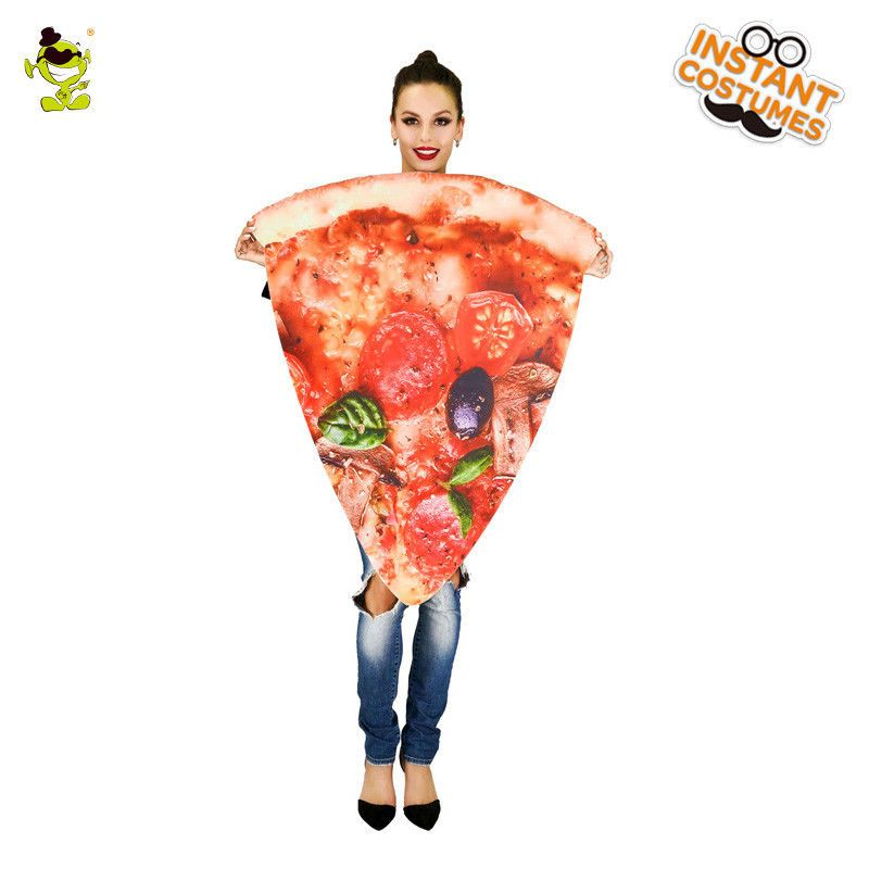 Women Pizza Costume Slice of Pepperoni Pizza Funny Christmas Cosplay Costume