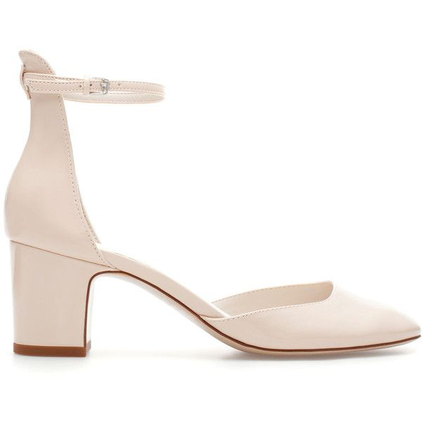 Zara Shoe With Block And Ankle Strap