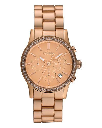 DKNY Women's 'Glitz' Aluminum Watch