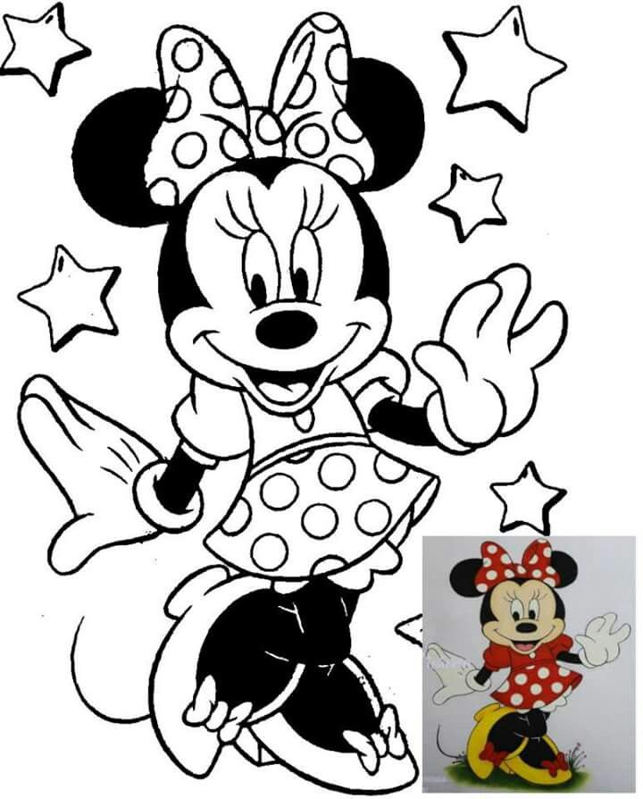 Pin De Gerardo Garbanzo En Vectores Minnie Mouse Páginas