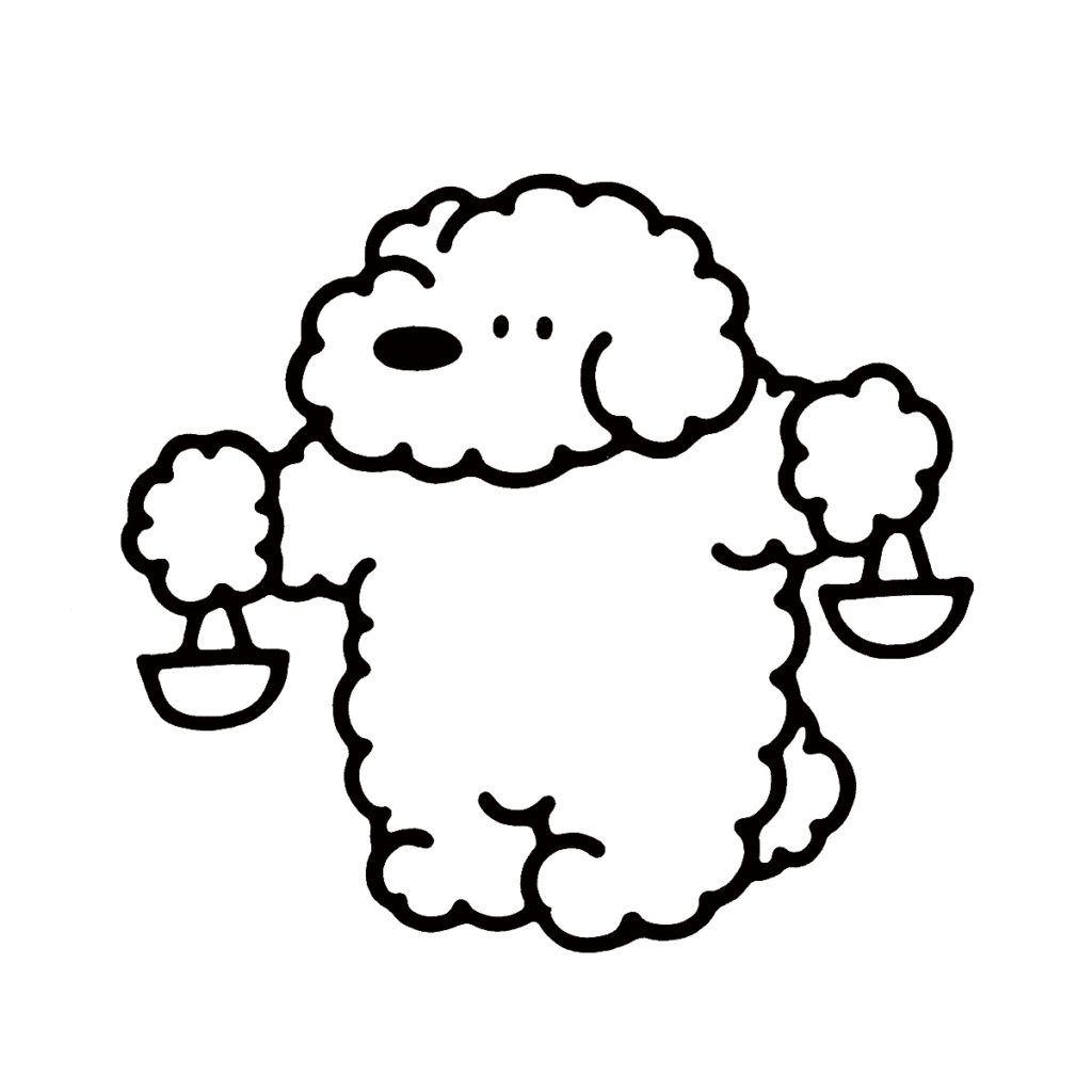天秤座 9月23日 10月22日生まれ 2021 キュートなスケッチ 漫画の壁紙 犬 イラスト かわいい