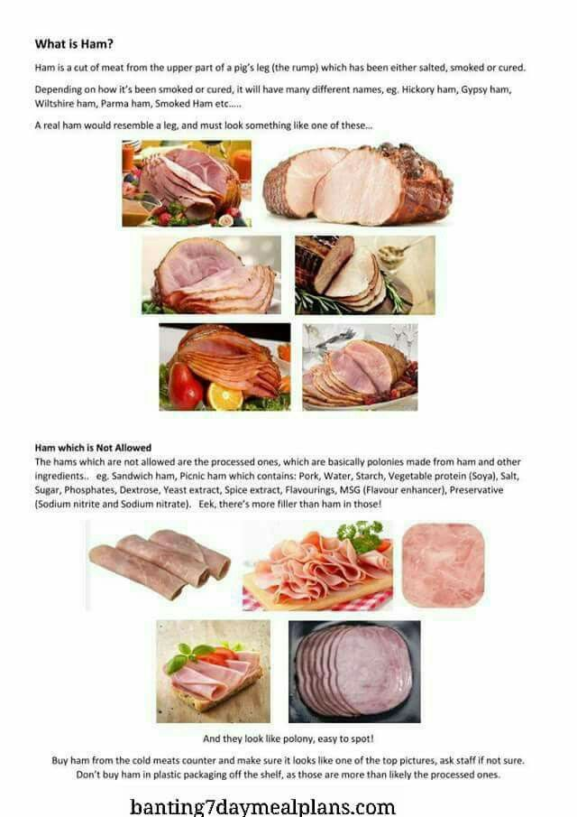 is ham good diet food