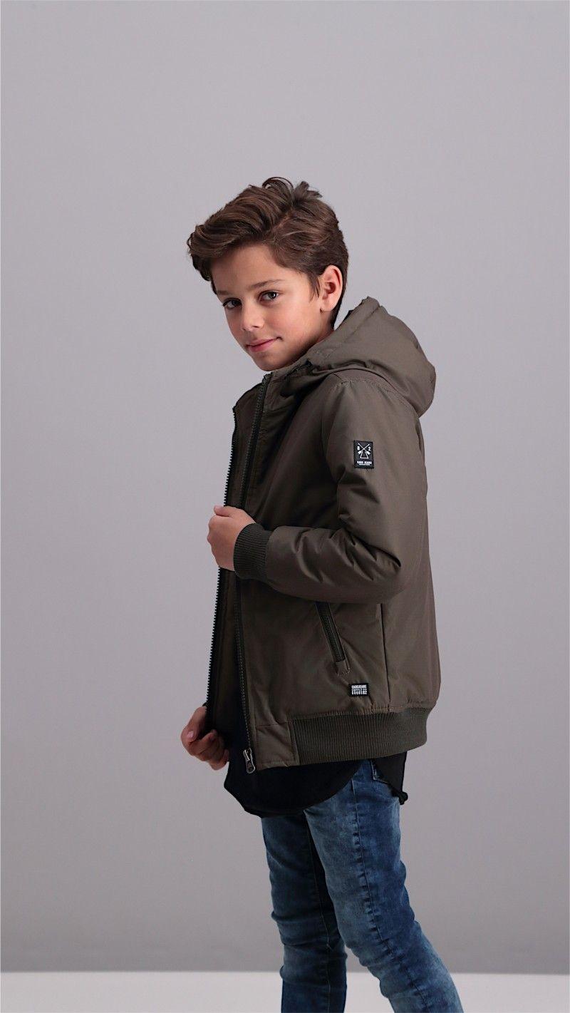 Winterjas Kleur.Kentish Winterjas Voor Boy In De Kleur Black En Army Leverbaar