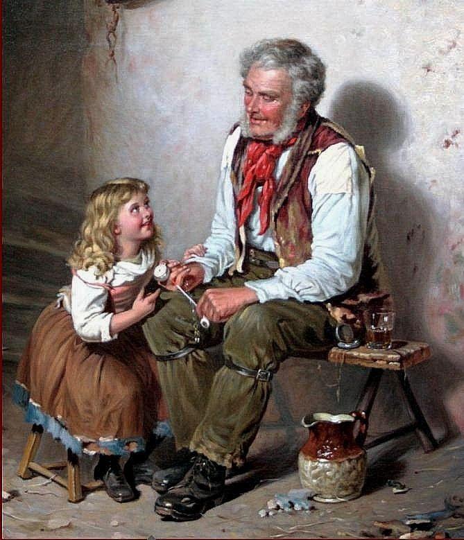 д?л старик читает сказки картинка можете менять любые