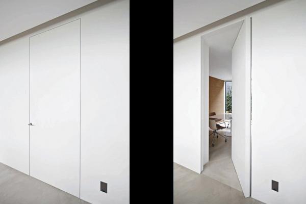 A peindre - Invisible sur Pivot Passage-porte Portes