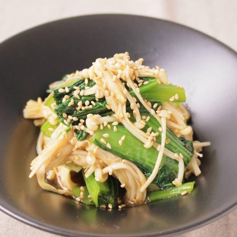 小松菜とえのきの中華風和え物 レシピ レシピ 料理 レシピ いか