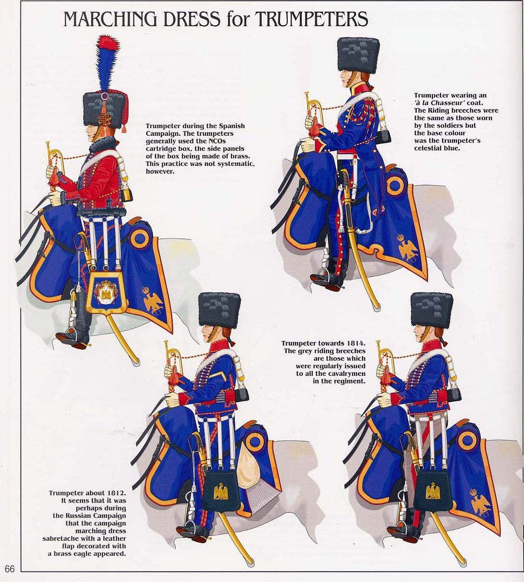 french imperial guard chasseurs a cheval trumpeters tenue de route 1789 1815 france. Black Bedroom Furniture Sets. Home Design Ideas
