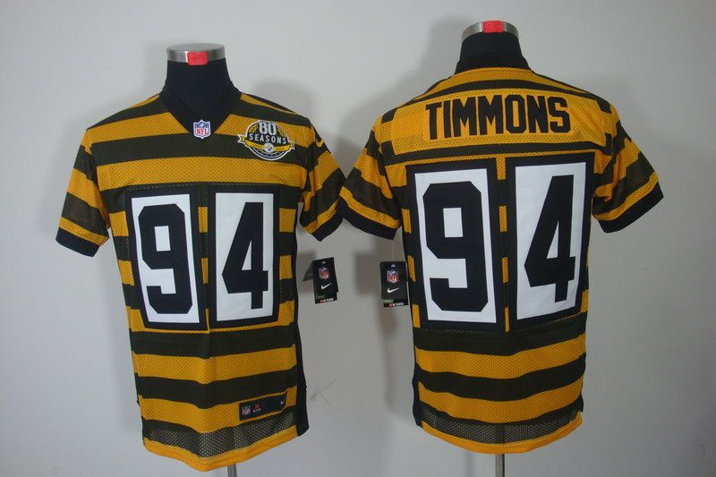 info for 285b2 6760e 94 Lawrence Timmons yellow with black Pittsburgh Steelers ...