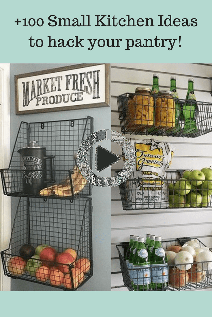 100 Small Kitchen Ideas To Hack Your Pantry Small Kitchen Small Kitchen Organization Tiny Kitchen