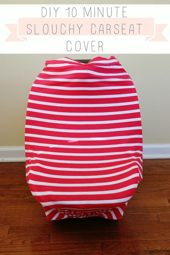 My Simple Modest Chic: 10 minute DIY Slouchy Car Seat Cover Tutorial