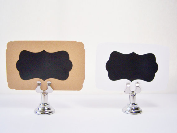 Reusable Place Cards Chalkboard Buffet Food Label Seating Cards