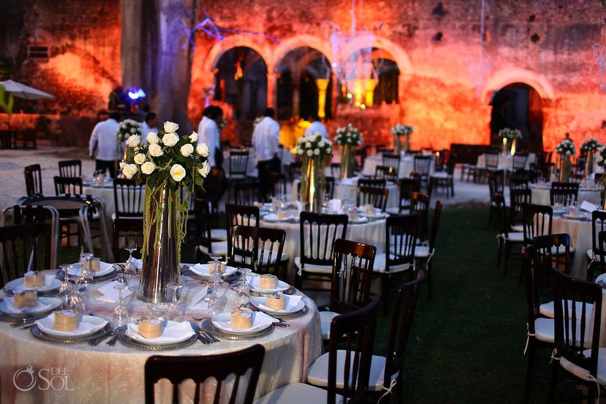 Campeche Mexico Wedding Hacienda Uayamon Stunning Garden Set Up Amidst The Ruins Of This Built In What A Venue