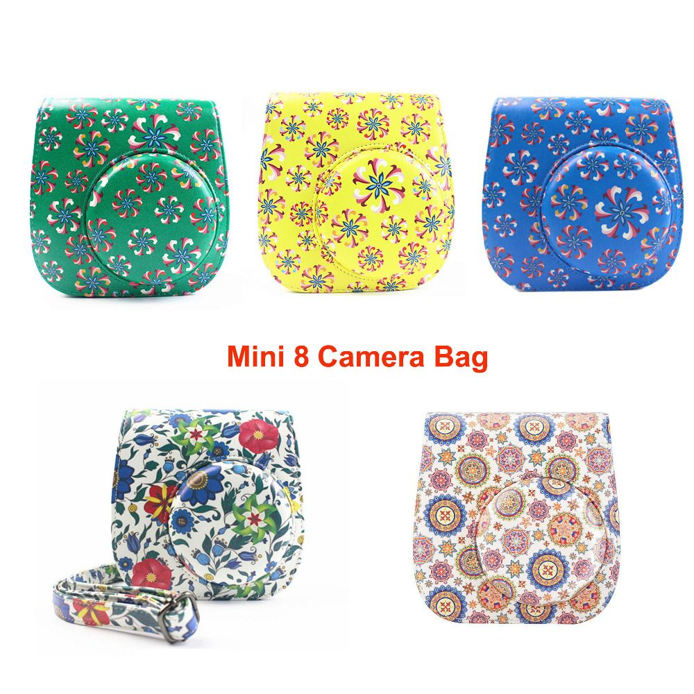 Find More Camera/Video Bags Information about Flowers PU Leather Camera Shoulder Strap Bag Case Pouch For Fujifilm Polaroid Instax Mini8 Mini 8s New Fashion Protector Cover,High Quality pouch belt,China bag for boxing gloves Suppliers, Cheap bag mix from Photography store on Aliexpress.com