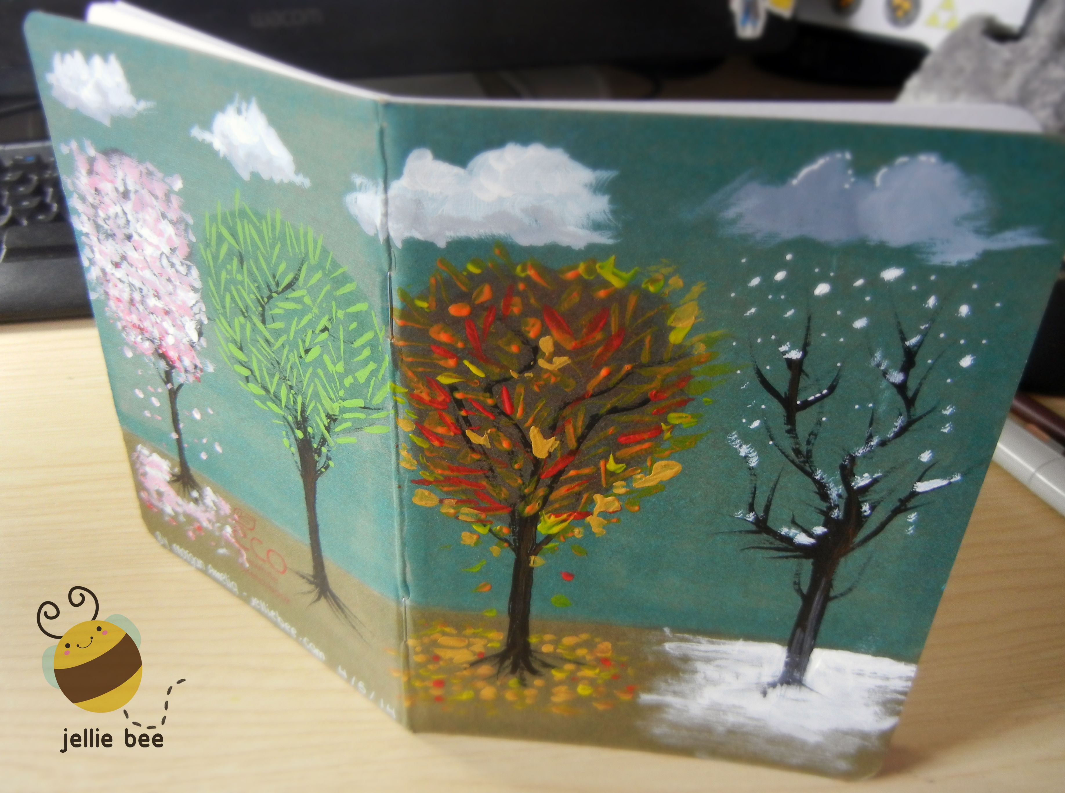 Fully painted customised sketchbook. The client wasn't expecting it to be painted but was very pleased!