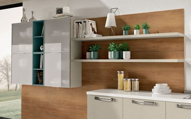Cucina angolare moderna - Composizione 0463 - Dettaglio pensili e ...