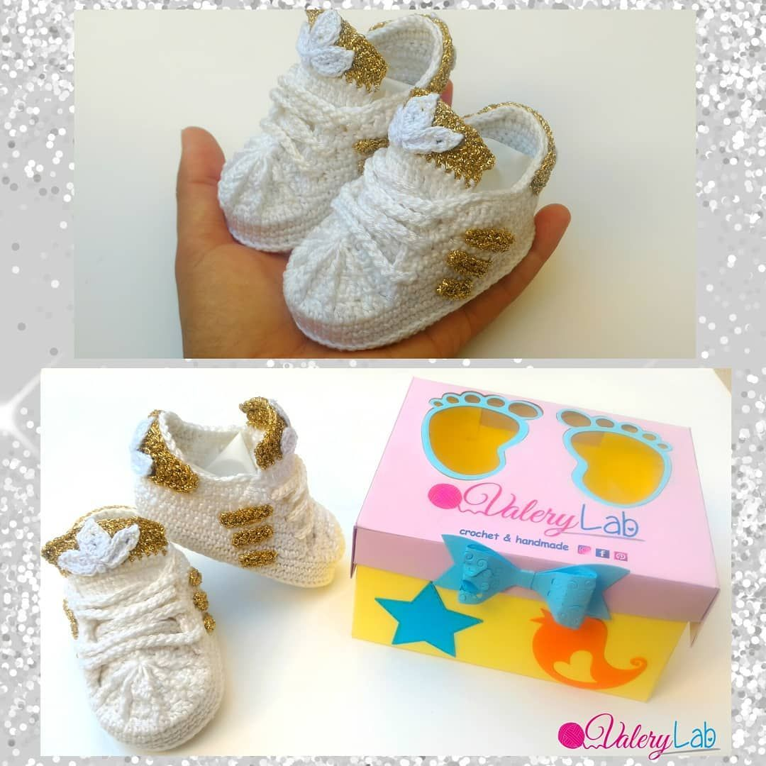 Baby Shoes Adidas Crochet By Valerylab Scarpette Neonato Uncinetto