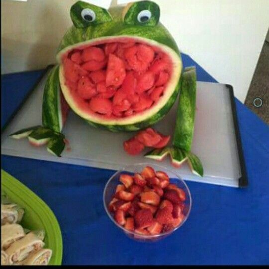 Watermelon Carving Frog Fruit