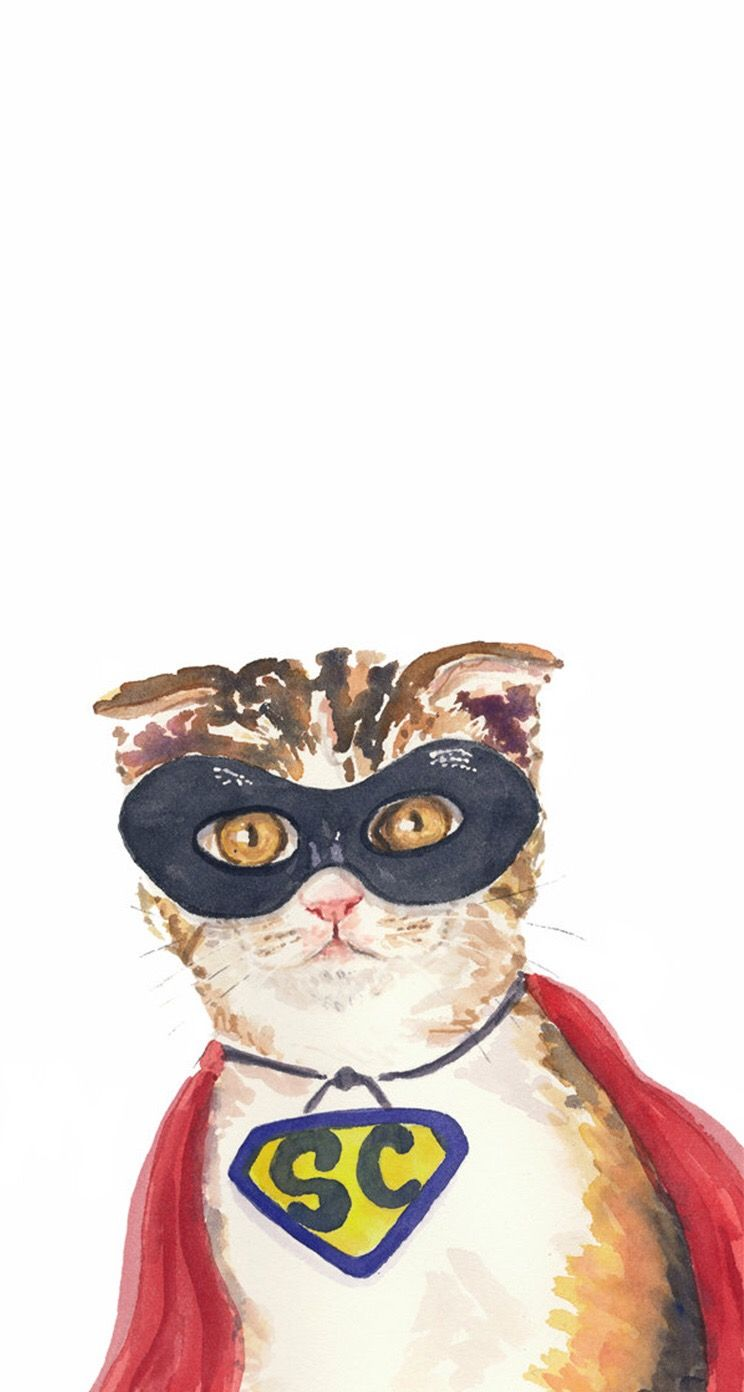Pin By Marianne French On Wallpapers Watercolor Cat Cat Art Cat Illustration