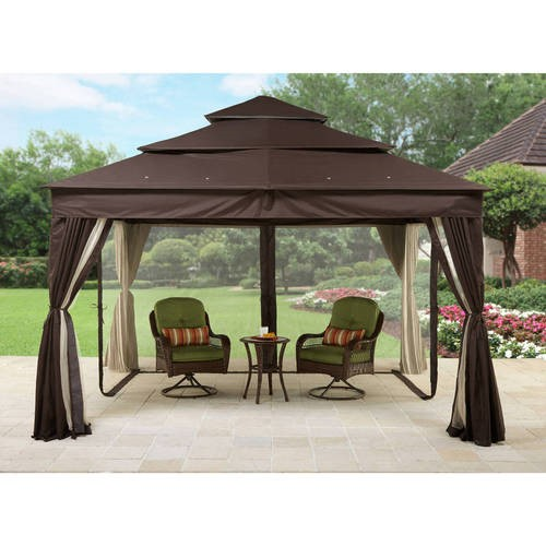 Better Homes And Gardens Archer Ridge 3 Tier Gazebo With Netting Sun Panel 12 X 10 Jet Com Outside Gazebo Gazebo Canopy Gazebo