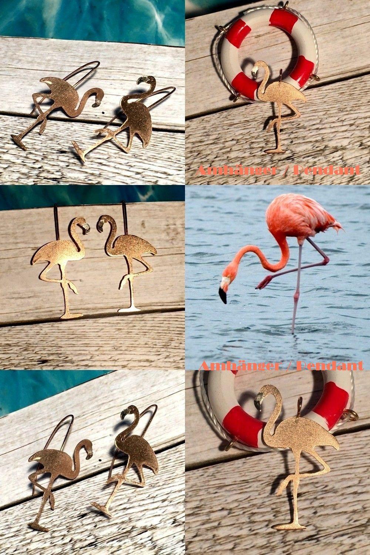 Flamingo Anhanger Pendant Flamingo Flamingos Handgefertigt