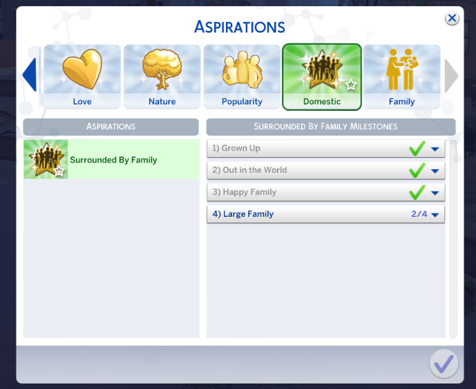 Sims 4 Surrounded By Family Aspiration Update This Is The Update For The Surrounded By Family Sims 4 Aspiration I Couldn T Get Sims 4 Sims 4 Traits Sims