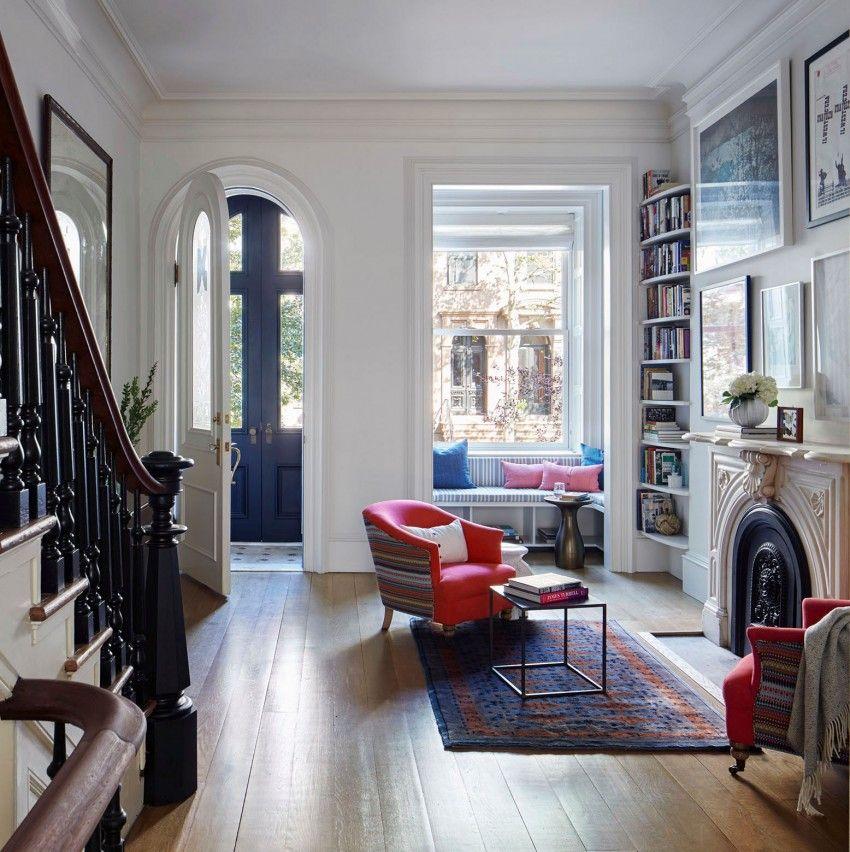 ItalianateStyle Row House In Brooklyn Gets An Elegant Upgrade - Row house living room design