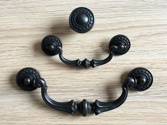 3 5 5 5 dresser knobs pulls drop bail drawer pull handles knob antique bronze kitchen cabinet - Drop pulls for cabinets ...