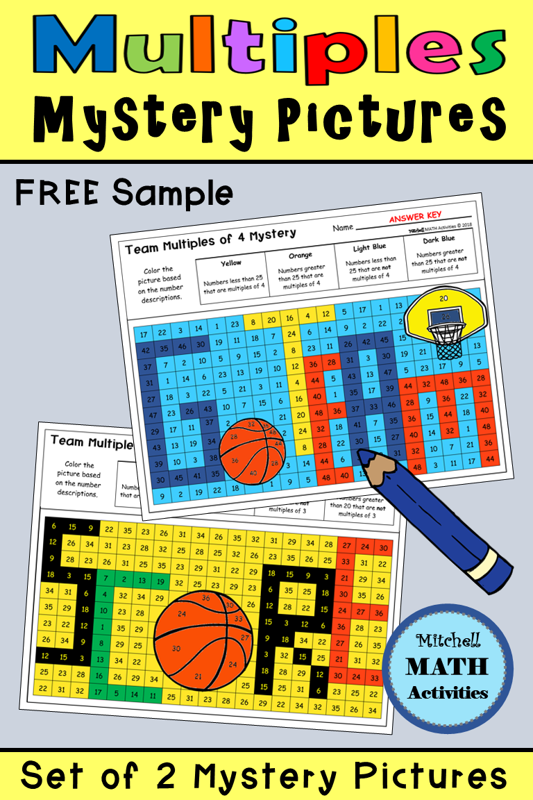 FREE Sample of 2 mystery pictures for multiples with a basketball ...