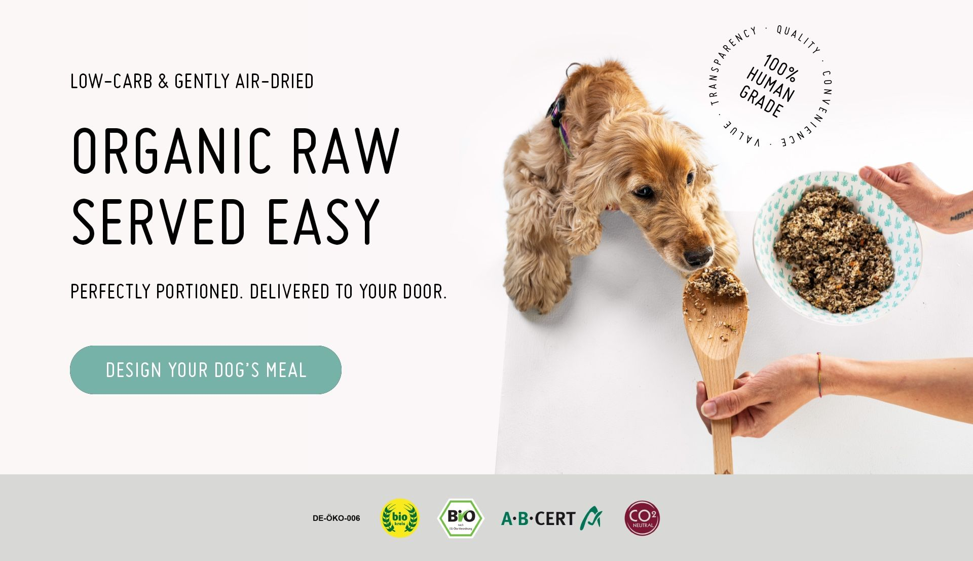 Raw, organic & low-carb dog food DYI delivered   Cool Shit