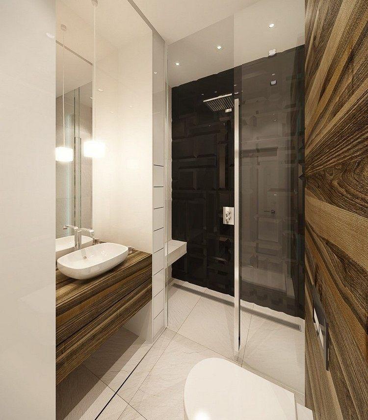 Badezimmer Einrichten 3d begehbare dusche mit glastüren 3d fliesen als akzent bäder