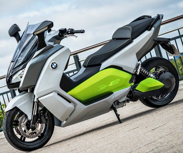 bmw c evolution electric scooter is based on a hybrid composite