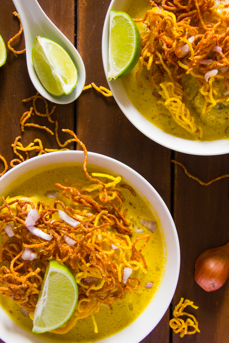 Quick and Easy Khao Soi Recipe - (Thai Noodle Soup with Chicken) - Thyme To Mango