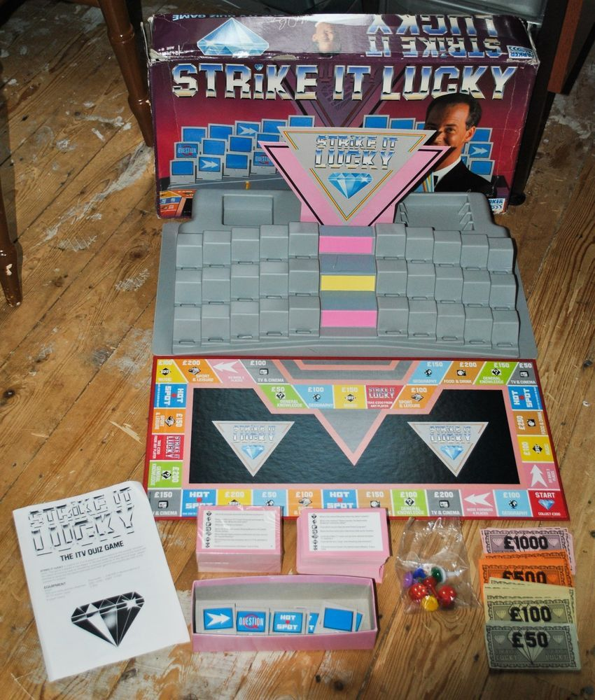 Vintage STRIKE IT LUCKY The ITV Quiz Board Game, 100