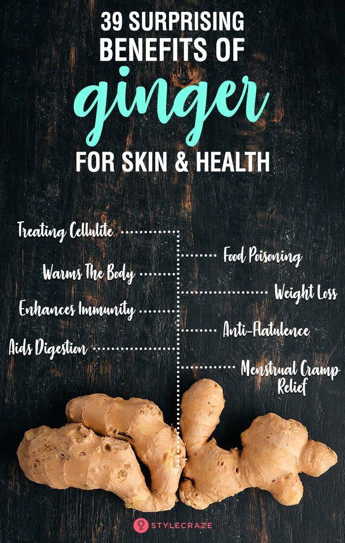 39 Überraschende Vorteile von Ingwer für Haut und Gesundheit - New Ideas #skin