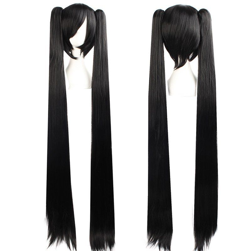Cosplay Extra Long Black Anime Costume Accessory Female Halloween Anime Wigs Wigs Female Anime Hairstyles