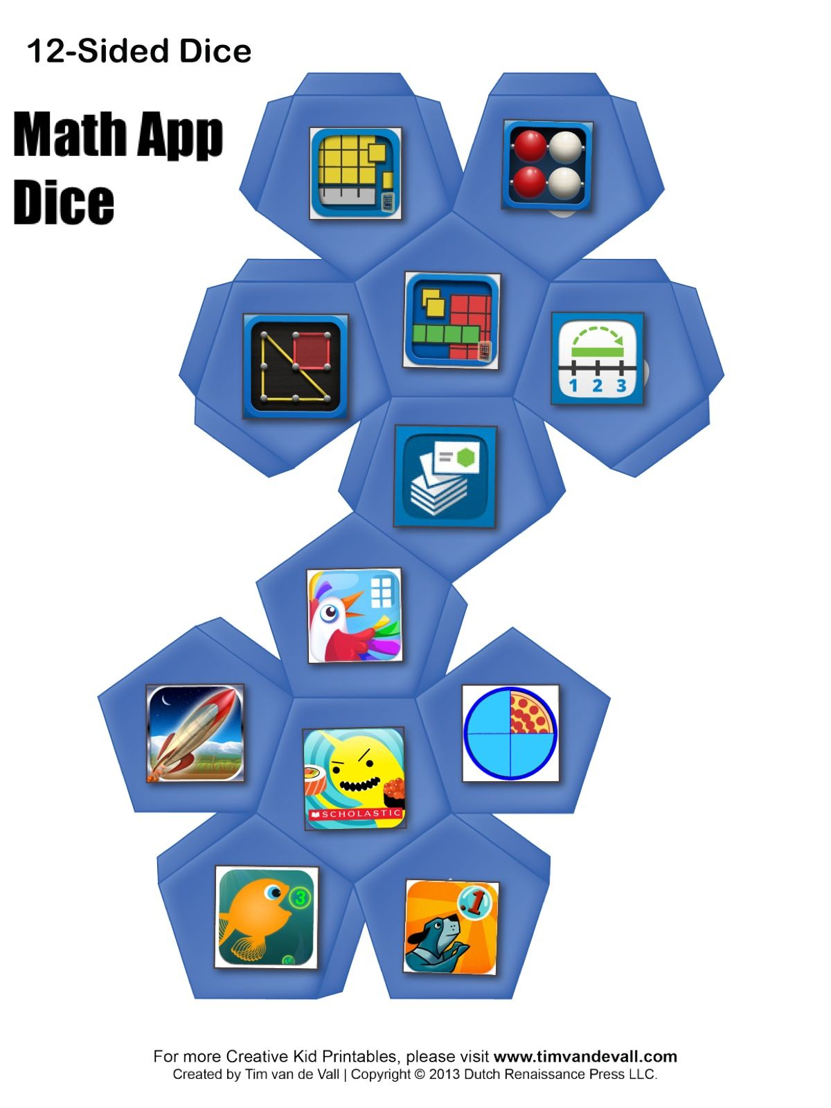 Math App Dice great for Math Stations and Bridges Math. # ...