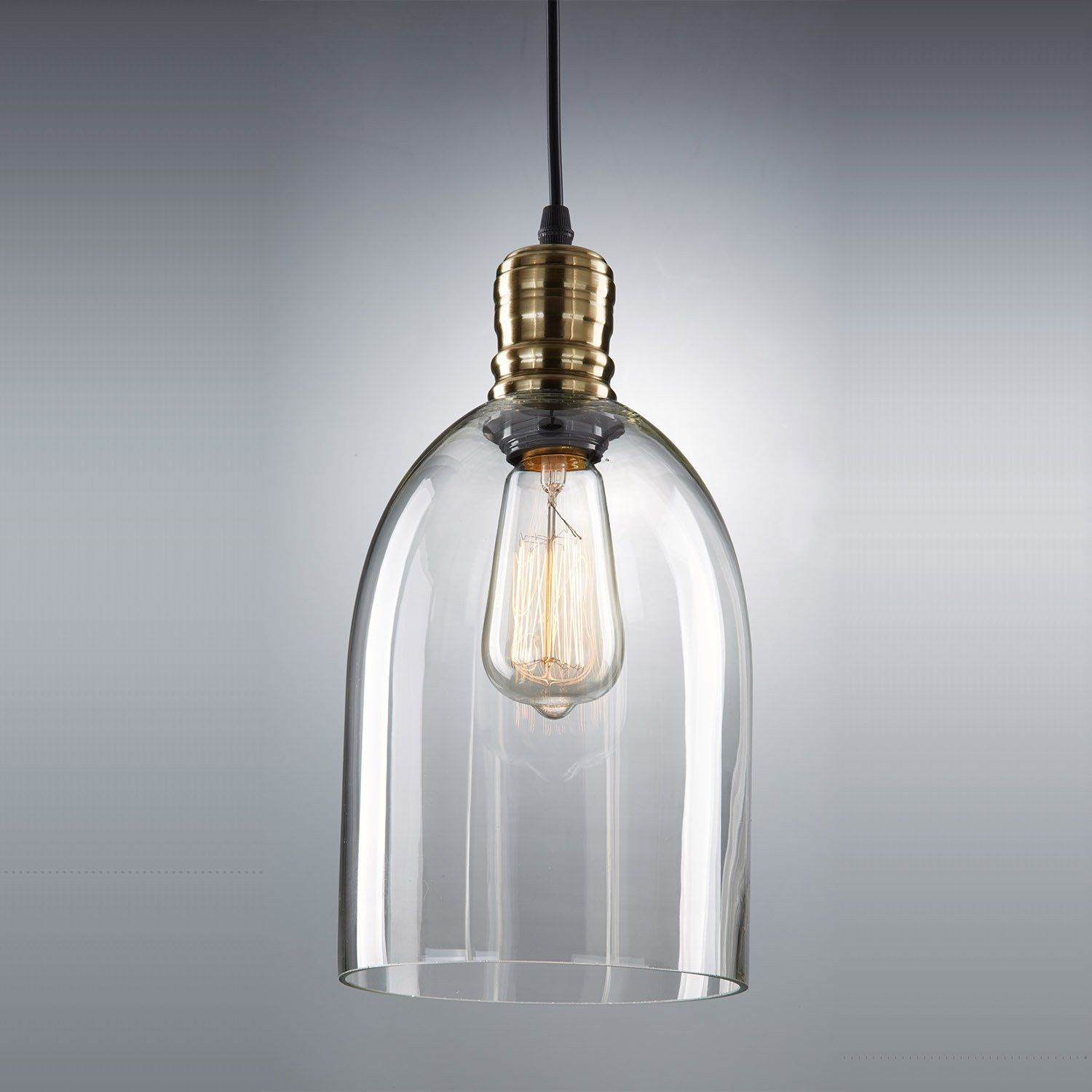 Yobo lighting industrial edison hanging vintage mini glass shade