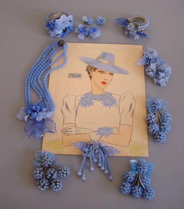 Miriam Haskell - Pretty blue