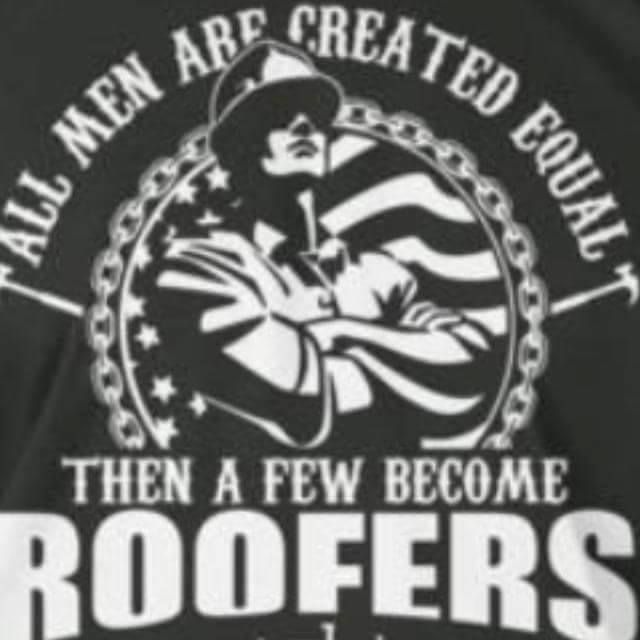 All Men Are Created Equal Then A Few Become Roofers Roofer Letter Wall Stickers Equality