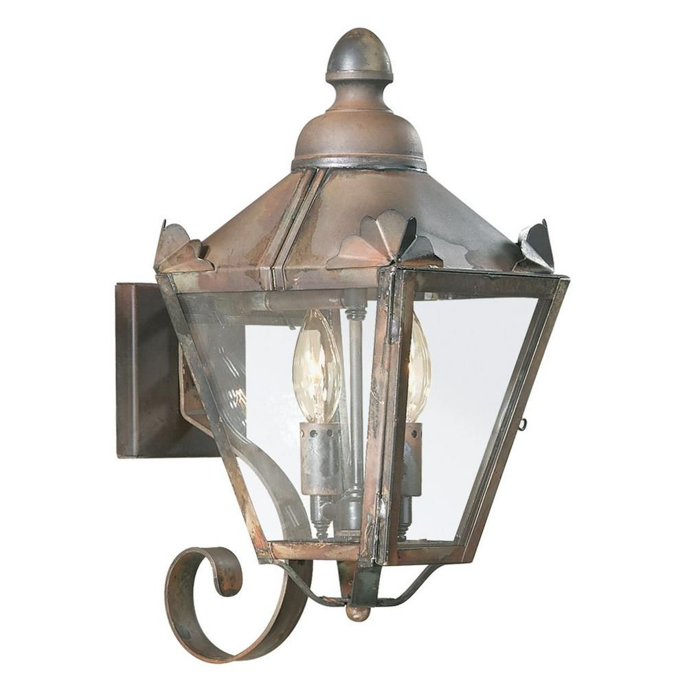 Troy Lighting Preston 2 Light Natural Rust Outdoor Wall Mount Lantern B8940nr Outdoor Sconces Troy Lighting Outdoor Wall Lantern