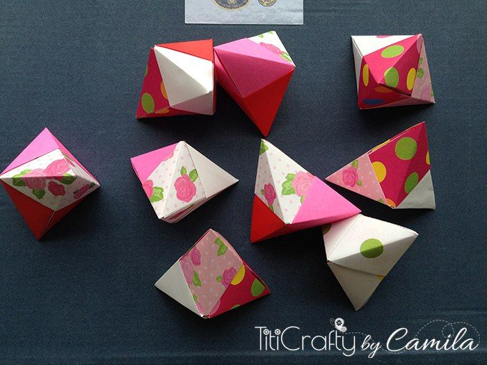 valentines day origami fortune cookies