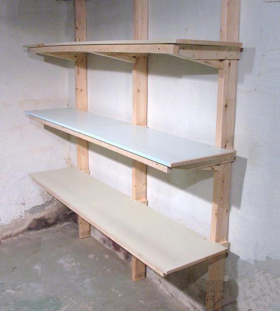 How To Build Shelves Construire Des Etageres Etagere Fer Et Bois Meuble Plancha
