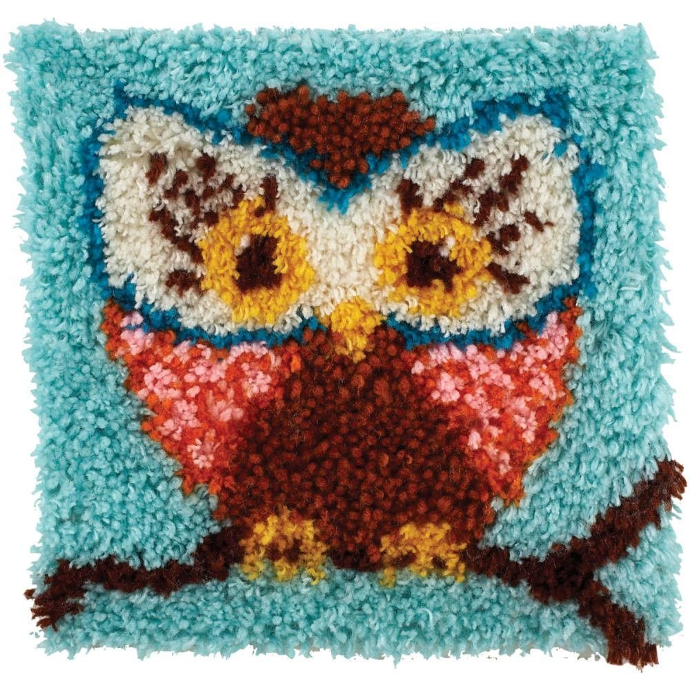 Wonderart Owl Hoot Latch Hook Rug