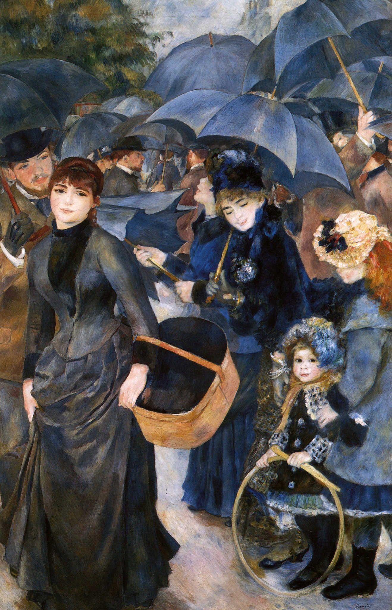 Renoir Umbrellas Painting