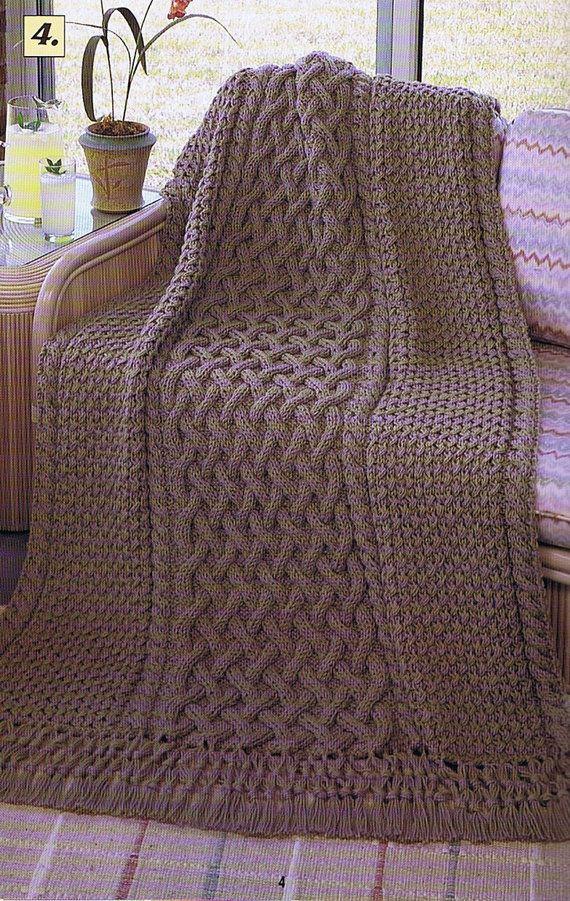 Red Heart Afghan Favorites Knitting and Crochet Booklet | Pinterest ...