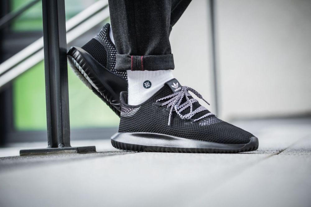 ADIDAS TUBULAR SHADOW CK BLACK & WHITE SNEAKERS IN ALL SIZES #adidas #RunningShoes
